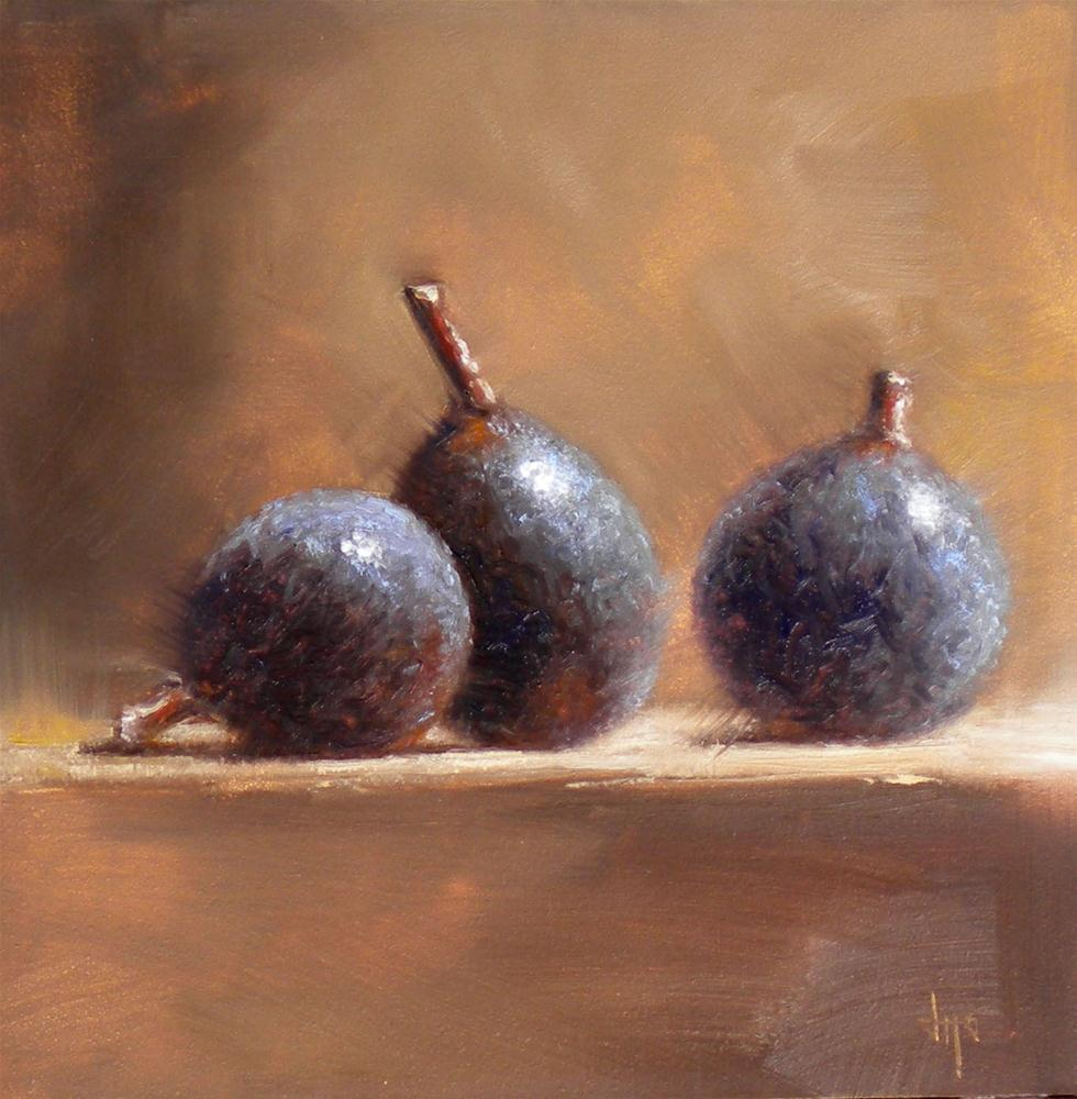 """Three Little Figs"" original fine art by Darla McDowell"