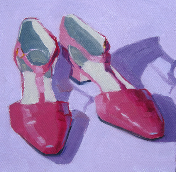"""Pretty in Pink"" original fine art by Robin Rosenthal"