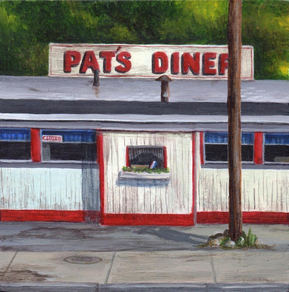 """Pat's Diner"" original fine art by Debbie Shirley"
