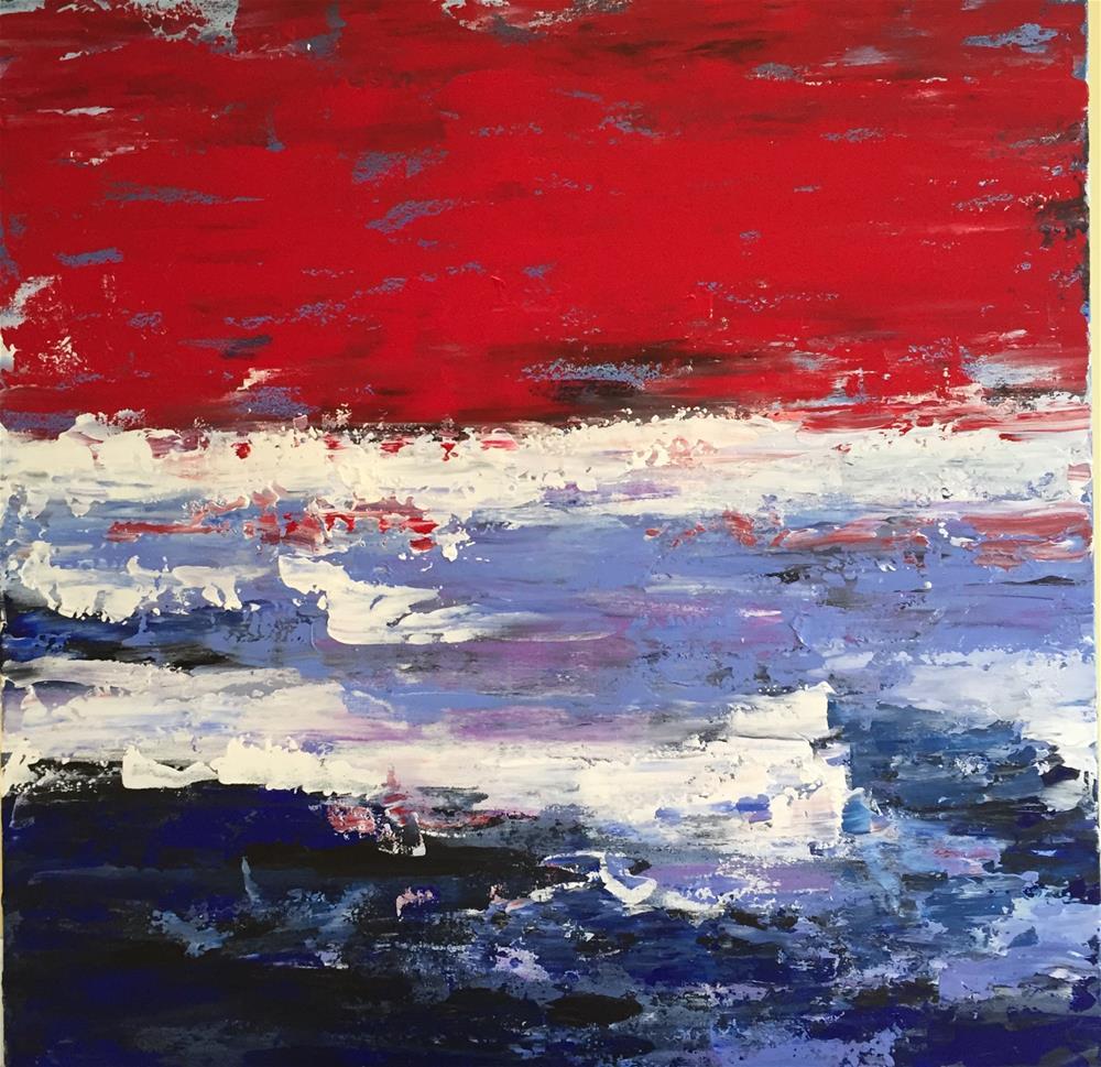 """""""Old Glory"""" original fine art by Bonnie Masdeu"""