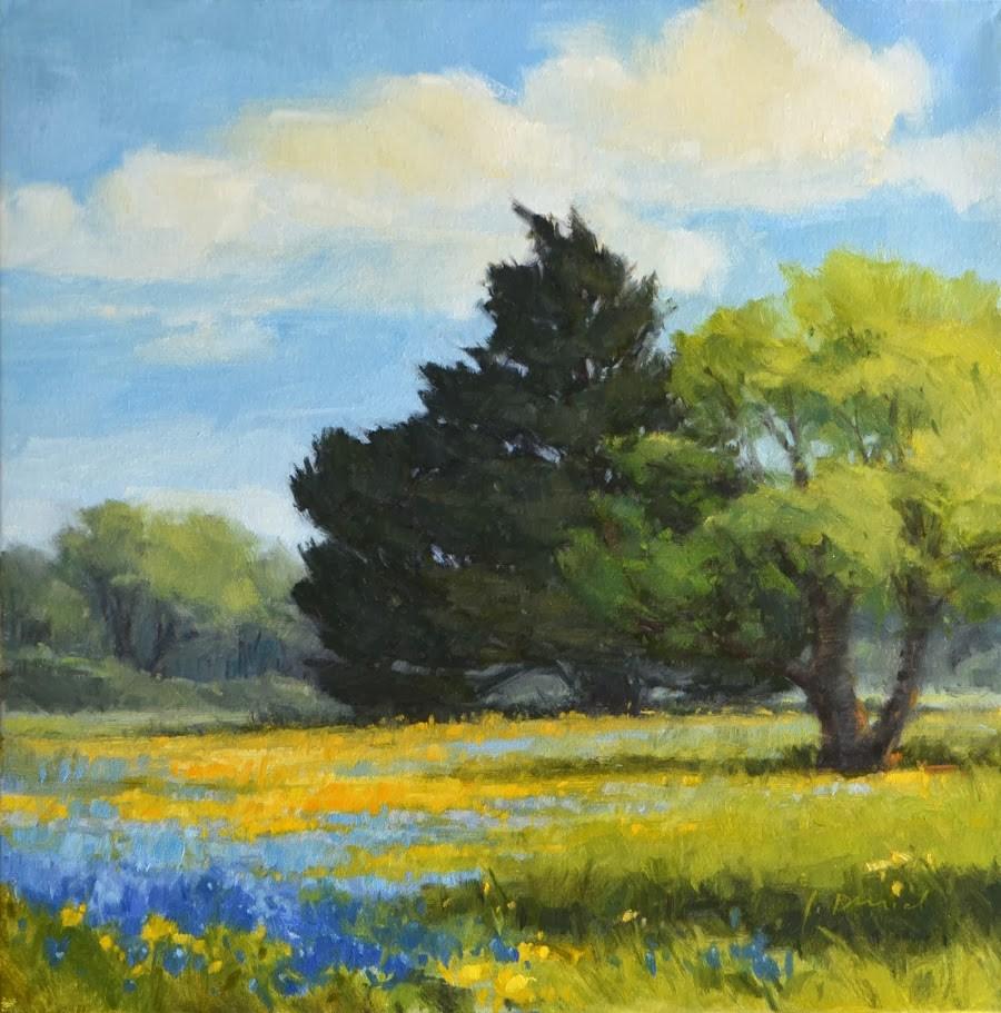 """Spring Meadow"" original fine art by Laurel Daniel"