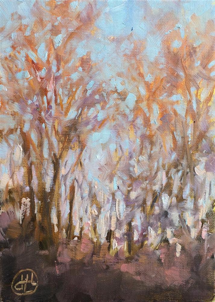"""January's kiss"" original fine art by Dottie  T  Leatherwood"