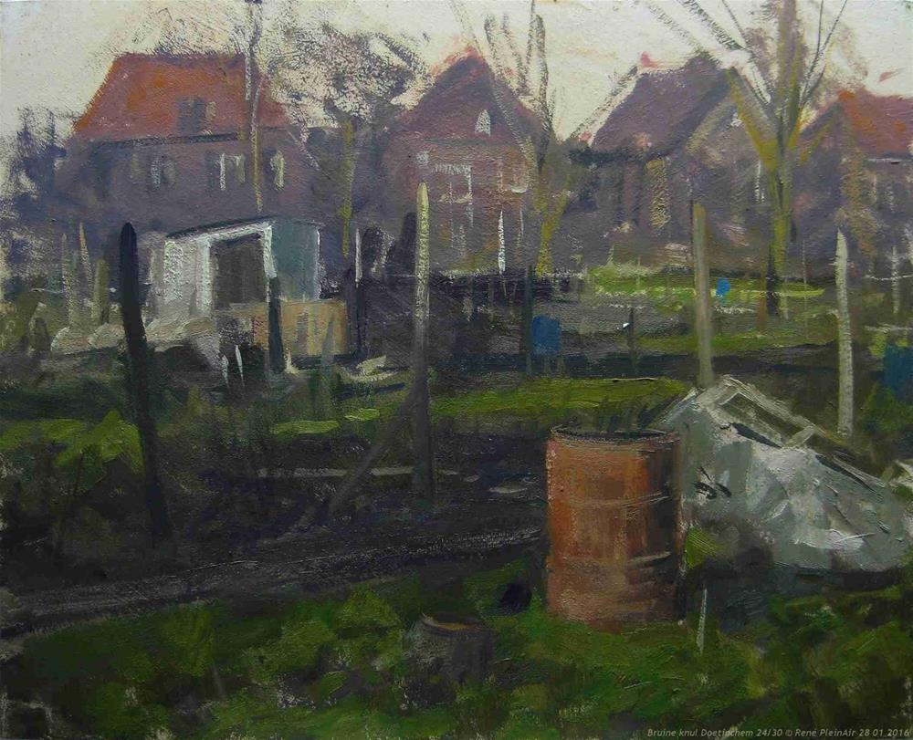 """Brown mate Doetinchem, The Netherlands."" original fine art by René PleinAir"