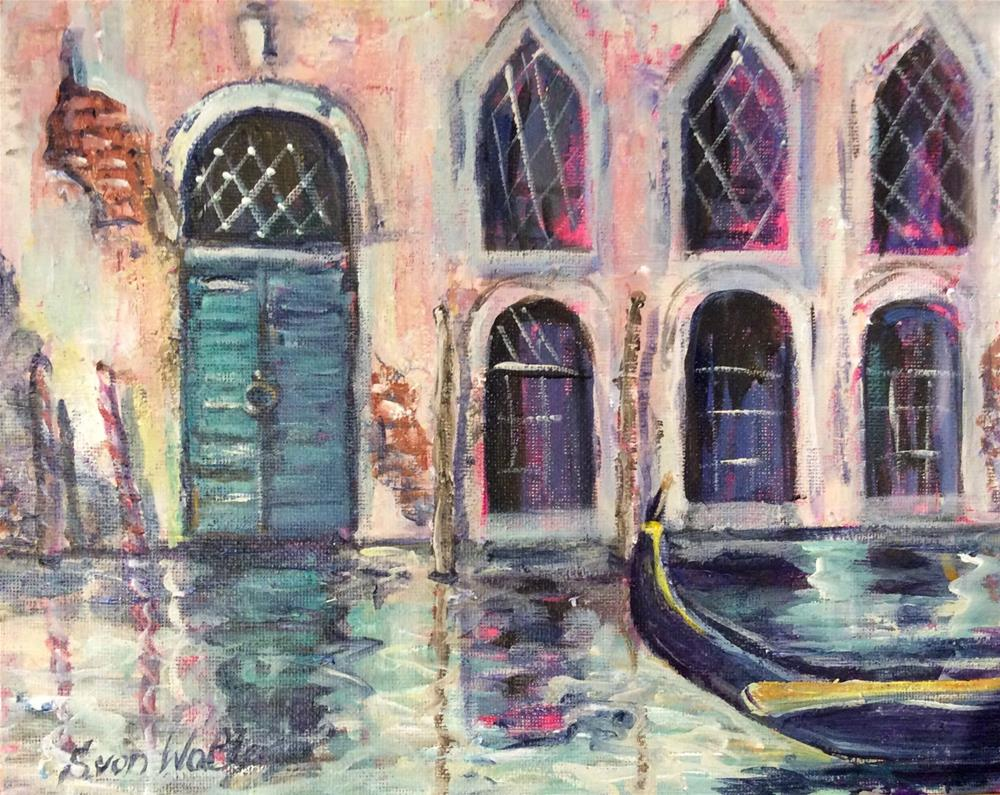 """""""Venetian Moment"""" original fine art by Sonia von Walter"""