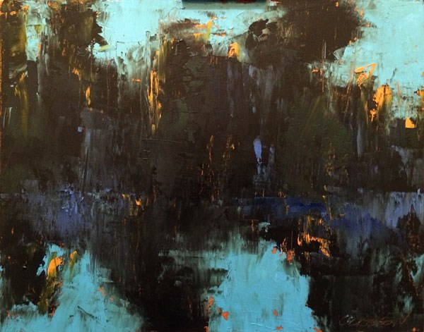 """""""Wise Lake, Evening"""" original fine art by Mary Gilkerson"""