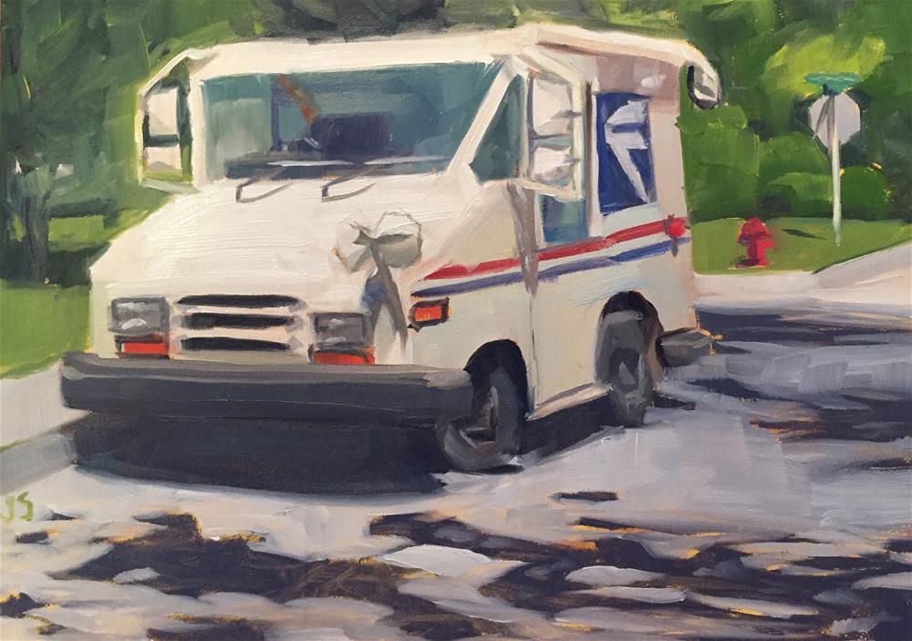 """USPS "" original fine art by Jamie Stevens"