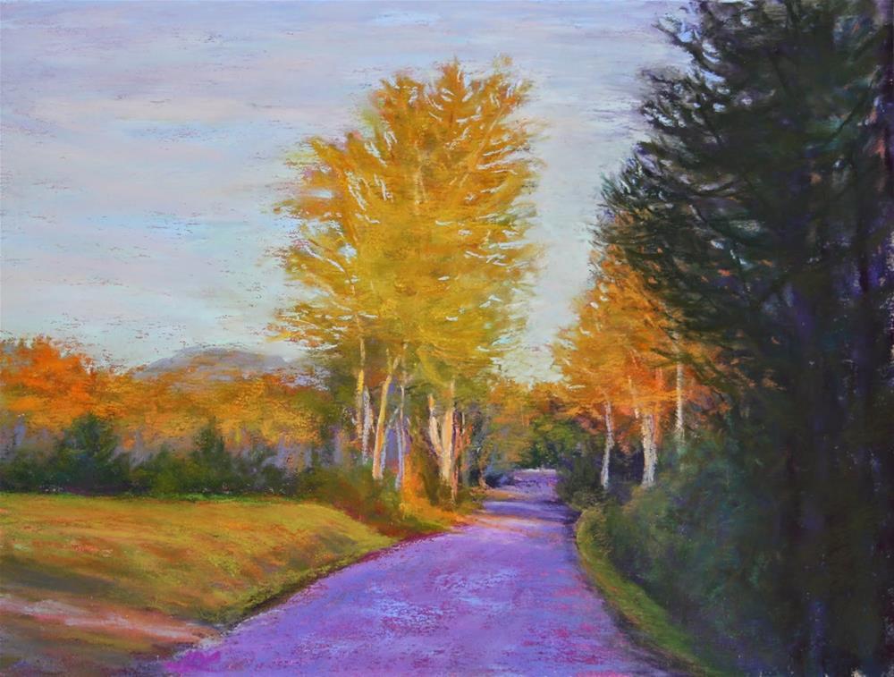 """""""Just Around the Corner"""" original fine art by Sharon Lewis"""