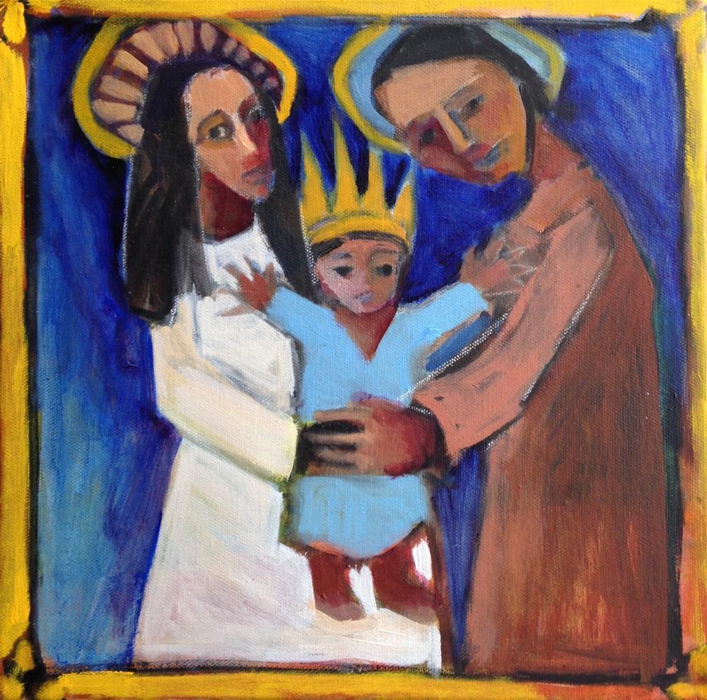 """He's Coming"" original fine art by Pamela Hoffmeister"