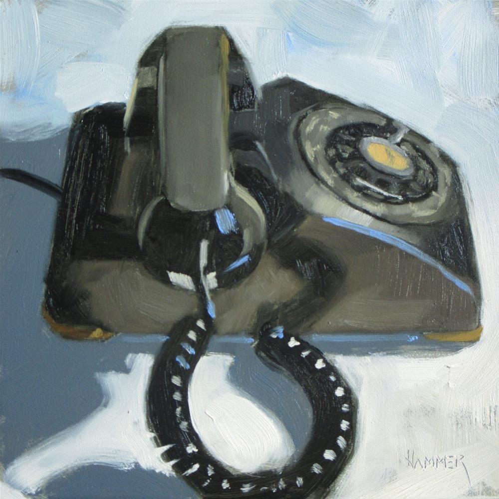 """Riinnnggg  6 x 6 oil"" original fine art by Claudia Hammer"