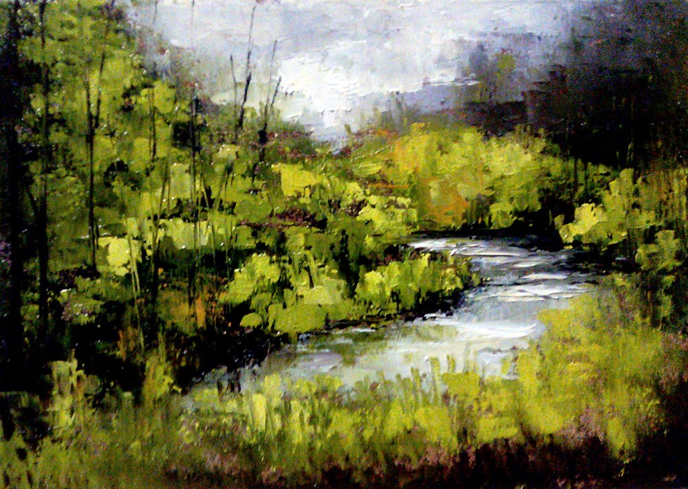"""Hidden Fishing Hole"" original fine art by Bob Kimball"