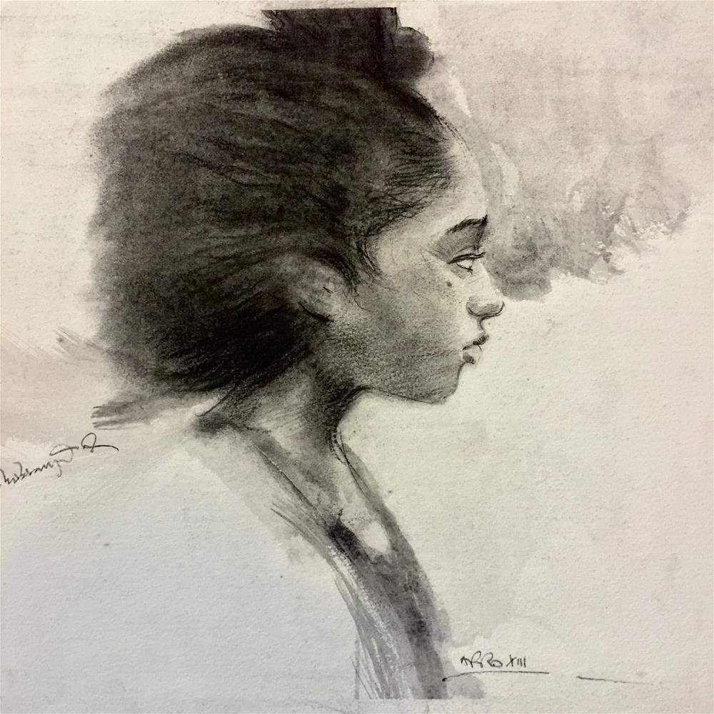 """AFRO XIII"" original fine art by Adebanji Alade"