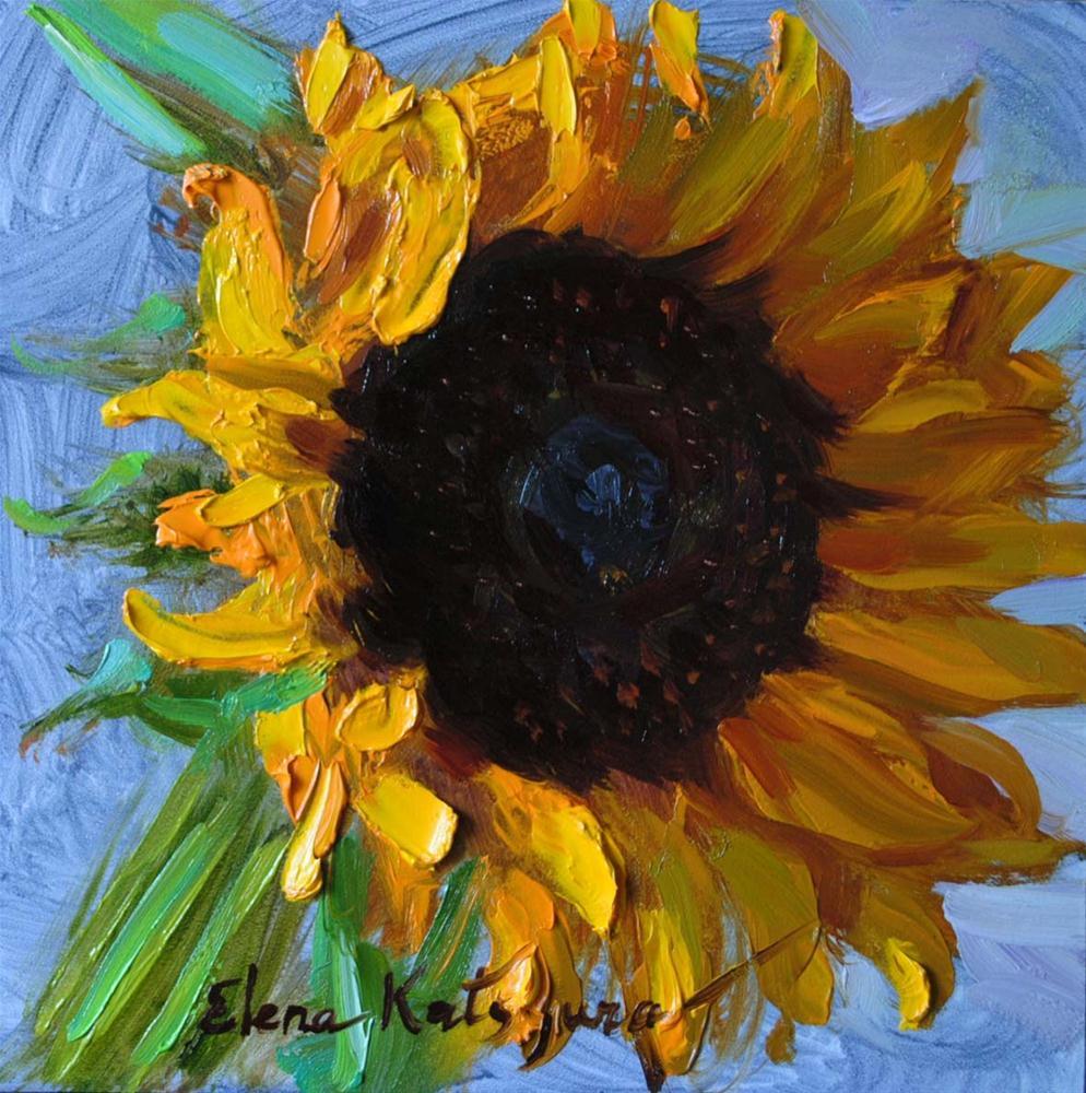 """Sunflower"" original fine art by Elena Katsyura"