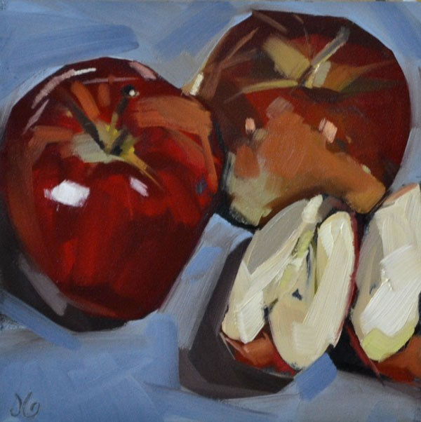 """Apple Family"" original fine art by Jessica Green"