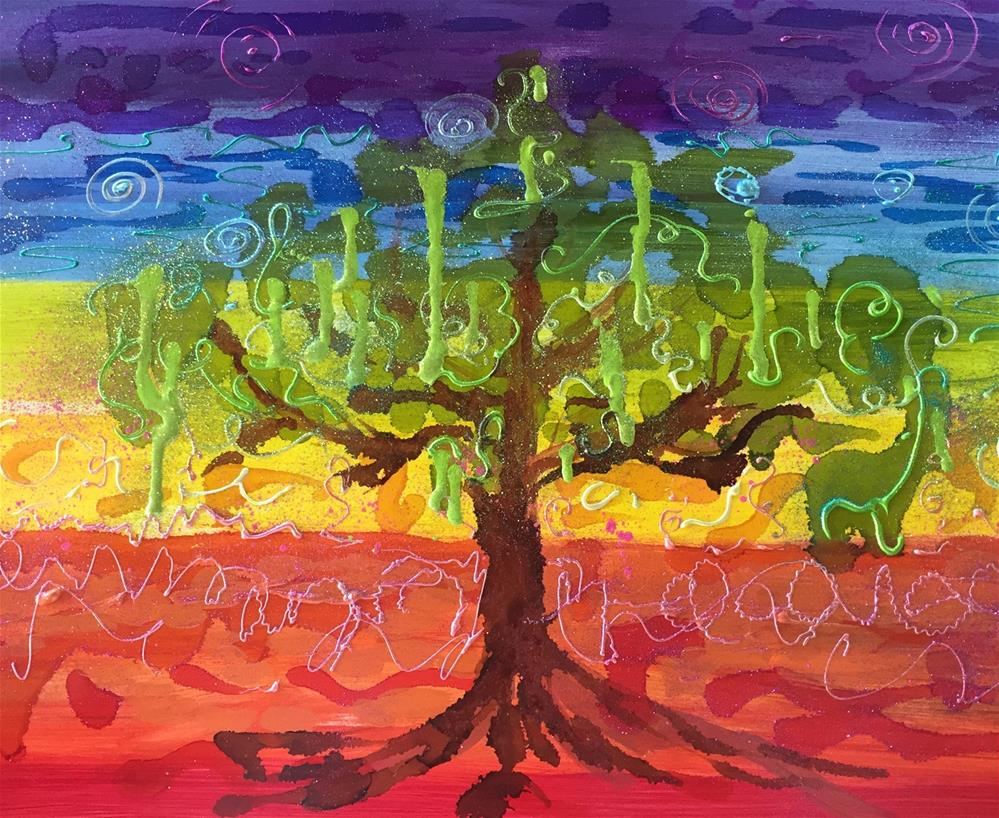 """""""Chakra Tree"""" original fine art by Yvonne Snead"""