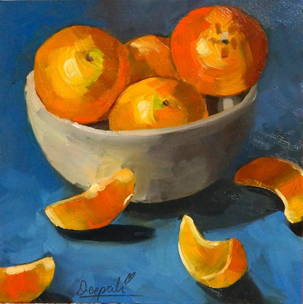 """Oranges"" original fine art by Dipali Rabadiya"