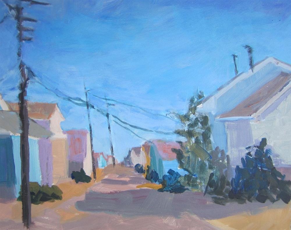 """""""Beach Cottage Series"""" original fine art by Christine Parker"""