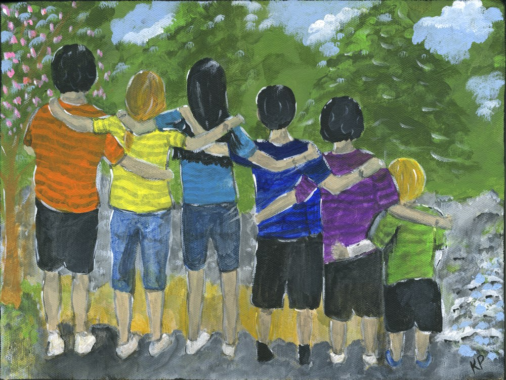 """High Five-and-a-Half"" original fine art by Kali Parsons"
