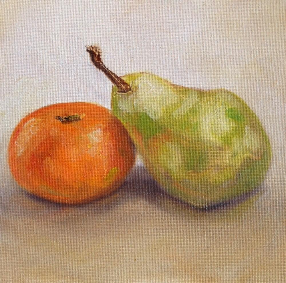 """""""Reclining Pear"""" original fine art by Beth Moreau"""