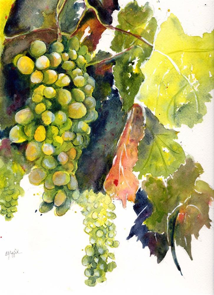 """Grapes and Still Life"" original fine art by Bunny Griffeth"