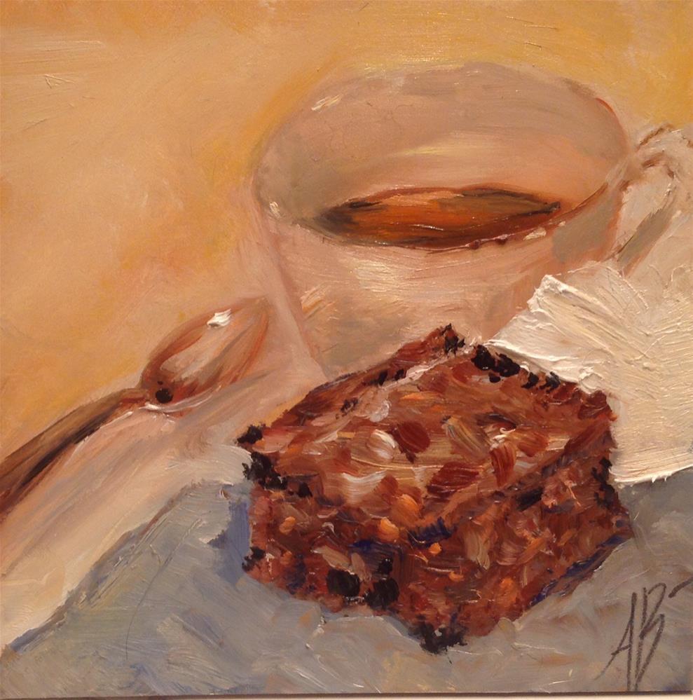 """Chocolate Brownie"" original fine art by Annette Balesteri"