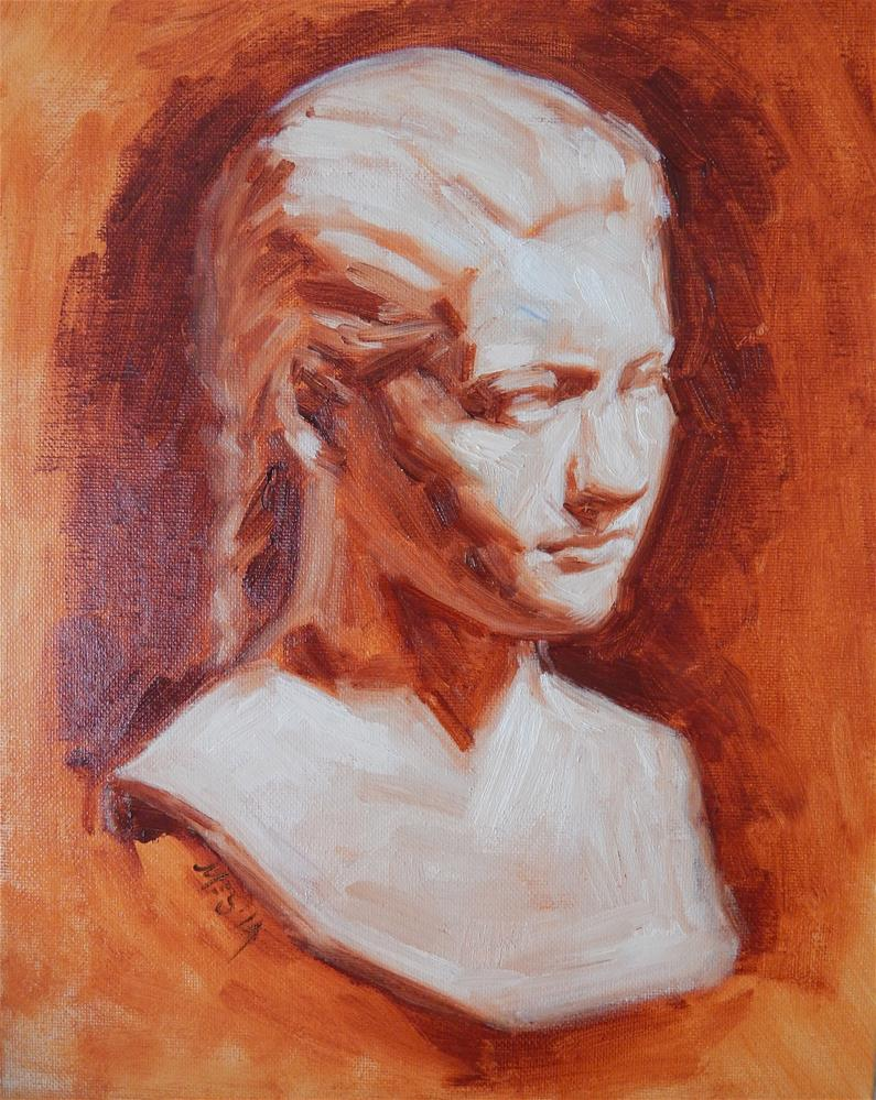 """""""Bust by D. Chester French"""" original fine art by Megan Schembre"""