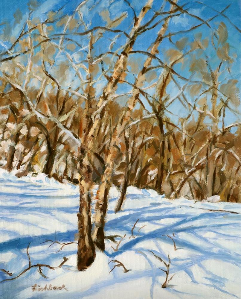 """River Birches"" original fine art by Daniel Fishback"