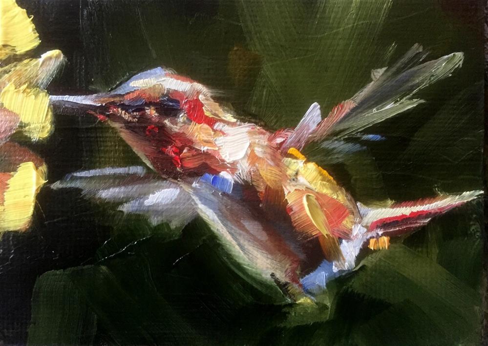 """""""Aflutter"""" original fine art by Gary Bruton"""
