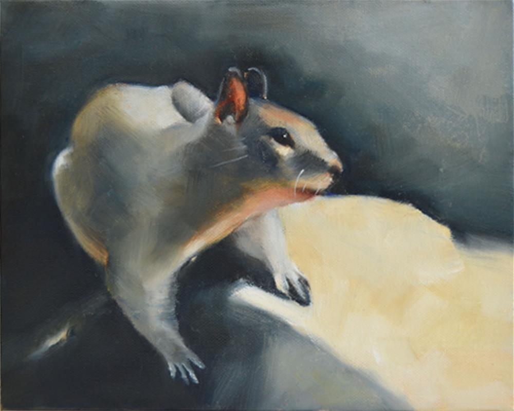 """Fox Squirrel"" original fine art by Cheryl Wilson"