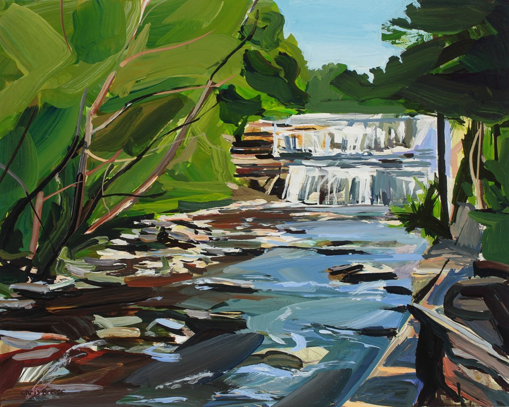 """Glen Falls, Before the Rain"" original fine art by Chris Breier"