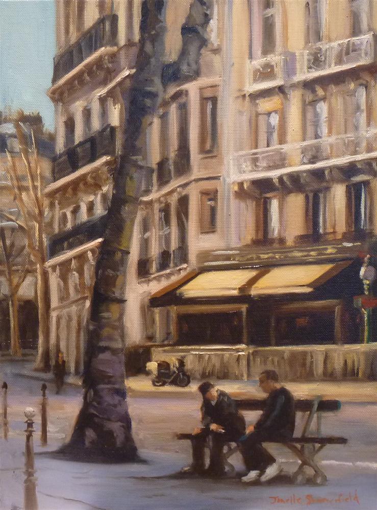 """""""Cigarette Break"""" original fine art by Jonelle Summerfield"""