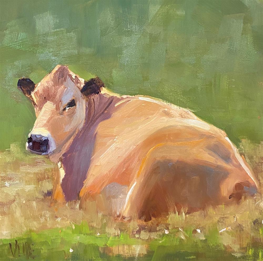 """New Year, New Cow"" original fine art by Patty Voje"