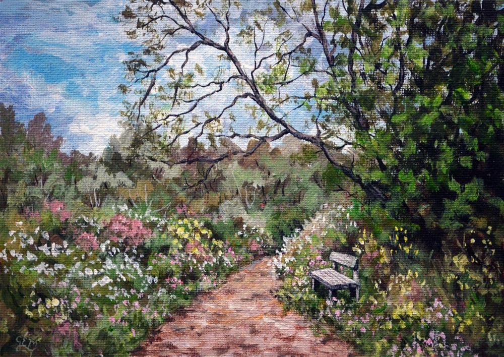 """Country Resting Spot"" original fine art by Gloria Ester"