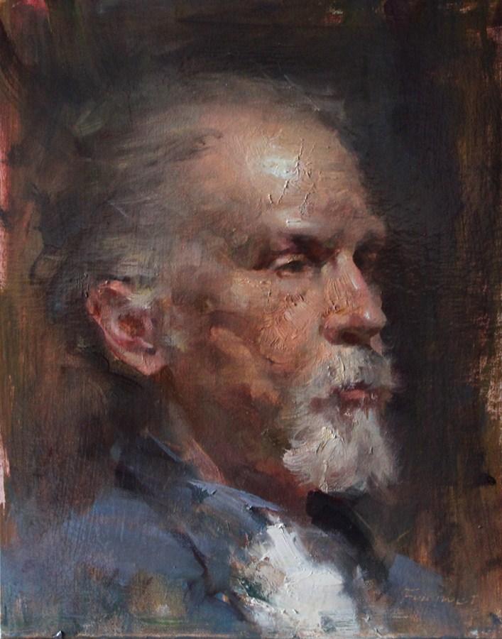 """Gregory"" original fine art by Fongwei Liu"