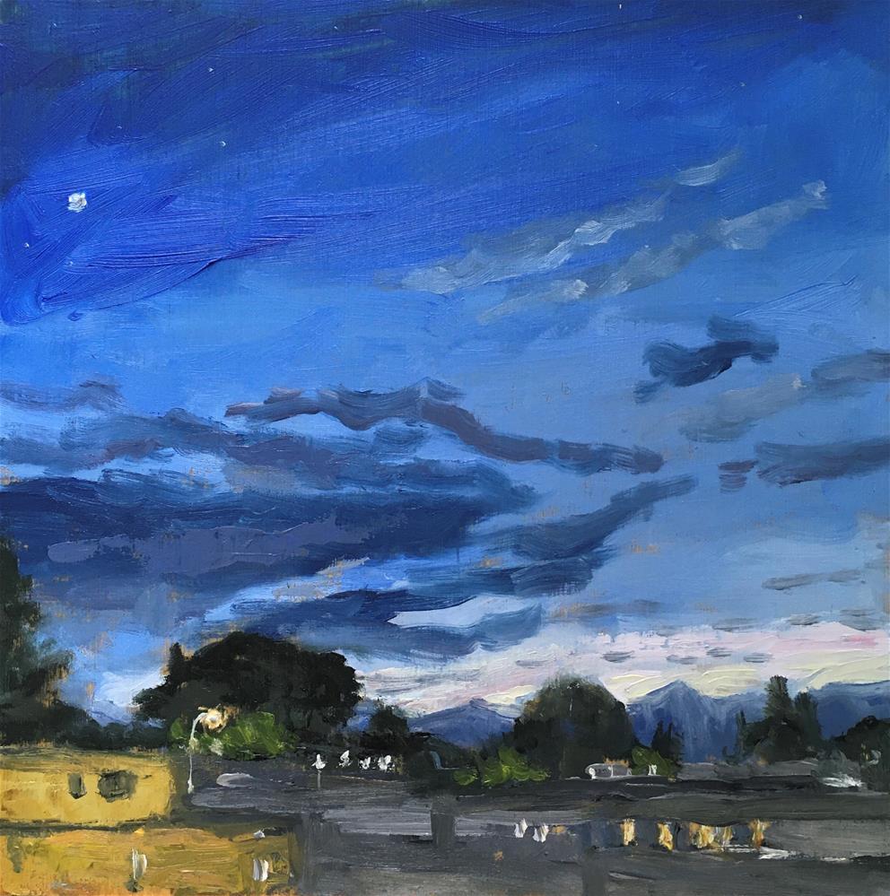 """""""Salida Sunset"""" original fine art by Shari Goddard Shambaugh"""