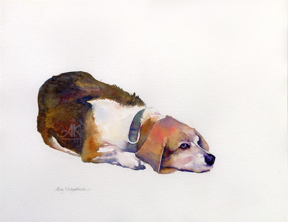 """BEAGLE THOUGHTS #0278"" original fine art by Amy Kirkpatrick"