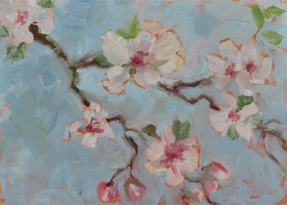 """""""These Apple Blossoms"""" original fine art by Catherine Crookston"""