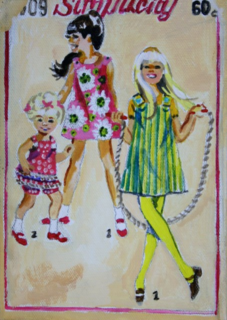 """Vintage Spring Girls"" original fine art by JoAnne Perez Robinson"