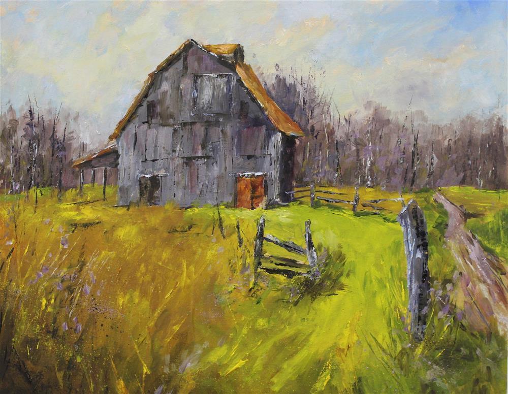 """Original Brown County Indiana Landscape Barn Impressionism"" original fine art by Alice Harpel"
