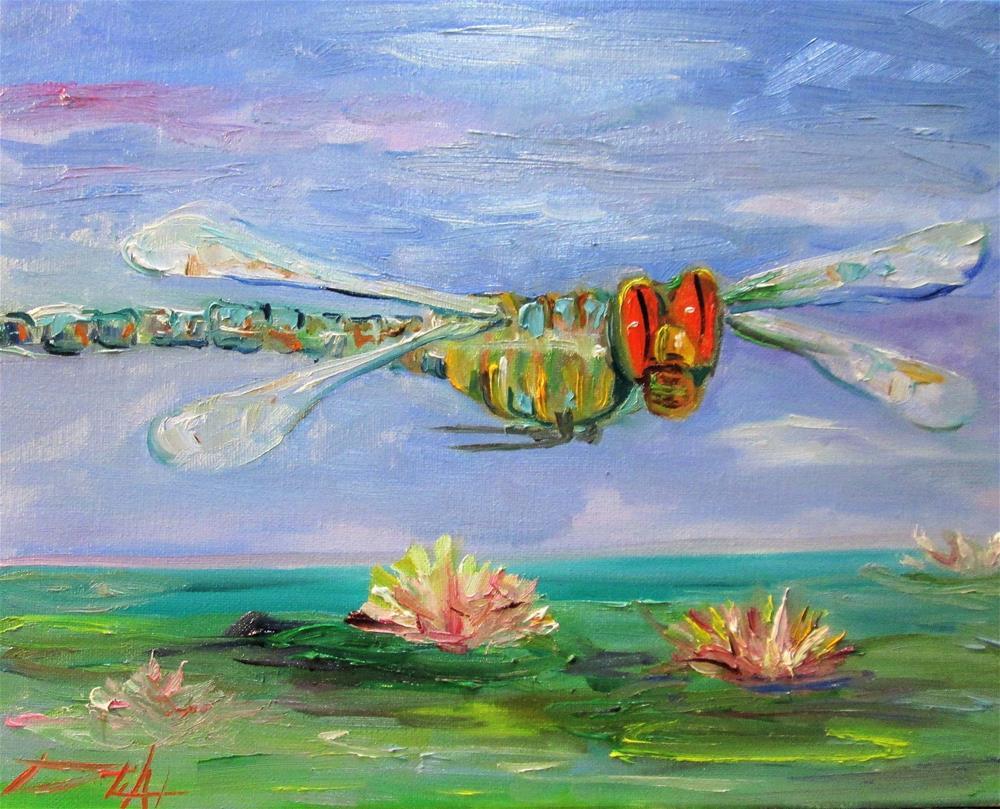 """Dragonfly No. 10"" original fine art by Delilah Smith"