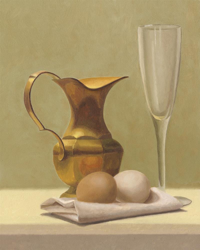 """""""The Brass Pitcher"""" original fine art by Susan Fern"""