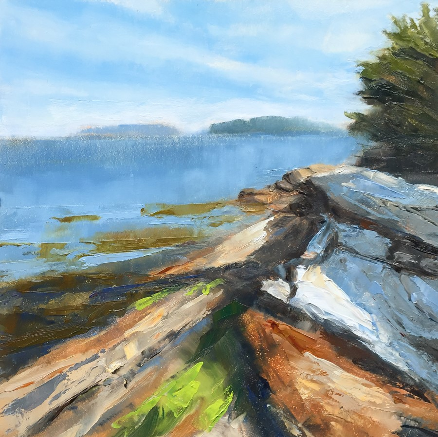 """#137 - Mckown Point - Boothbay Harbor, ME"" original fine art by Sara Gray"