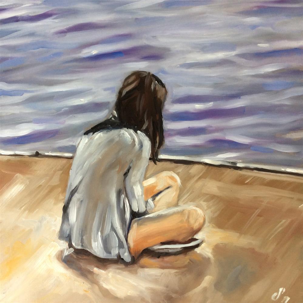 """On a jetty"" original fine art by Sonja Neumann"