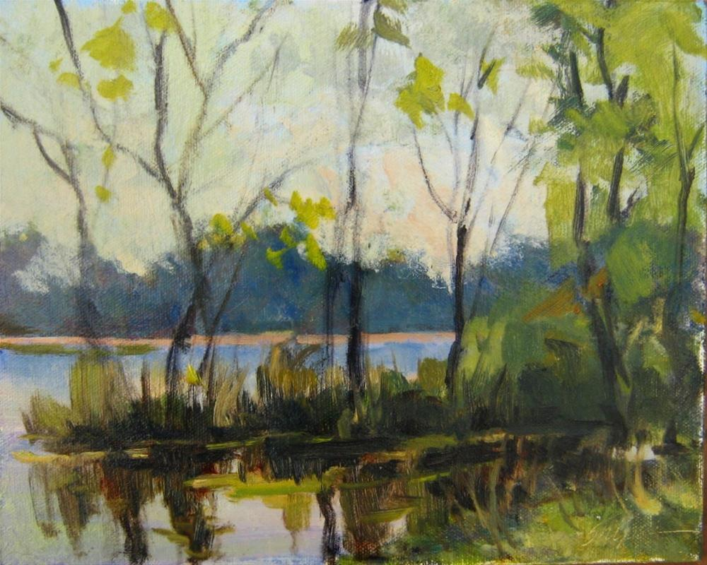 """""""Trees and Reflections"""" original fine art by Connie Snipes"""