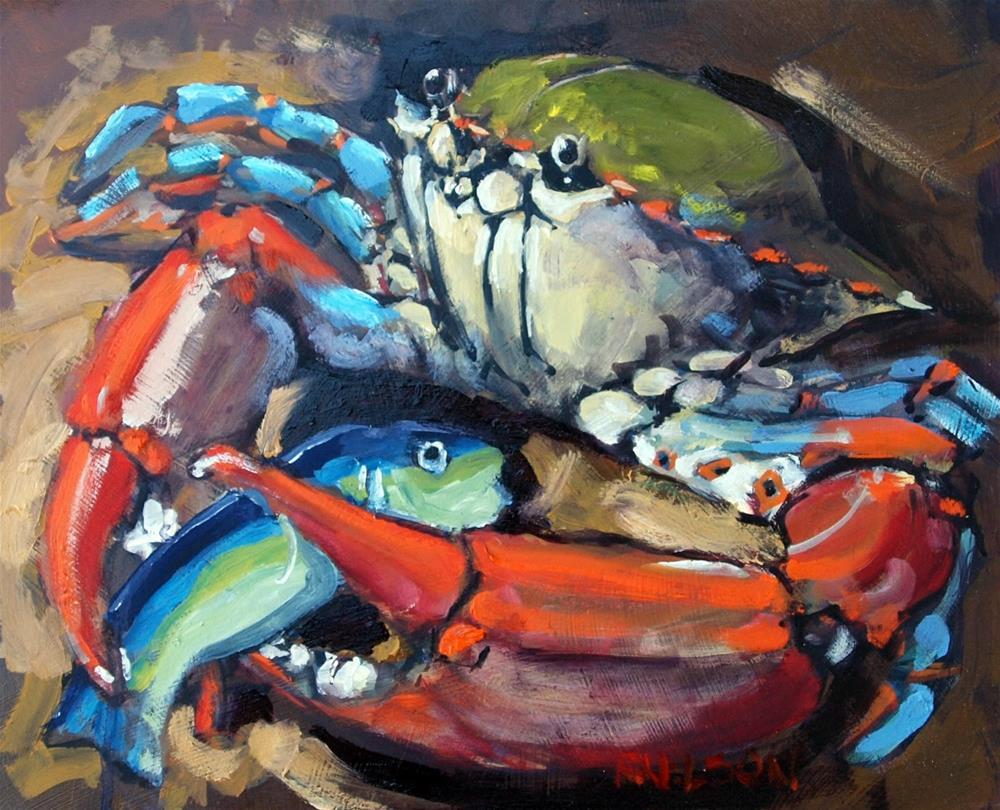 """Cozy"" original fine art by Rick Nilson"