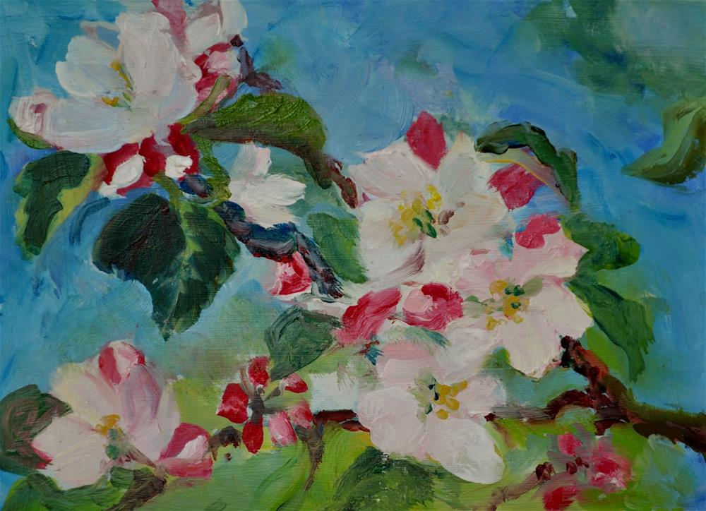 """Good Old Apple Blossoms"" original fine art by Catherine Crookston"