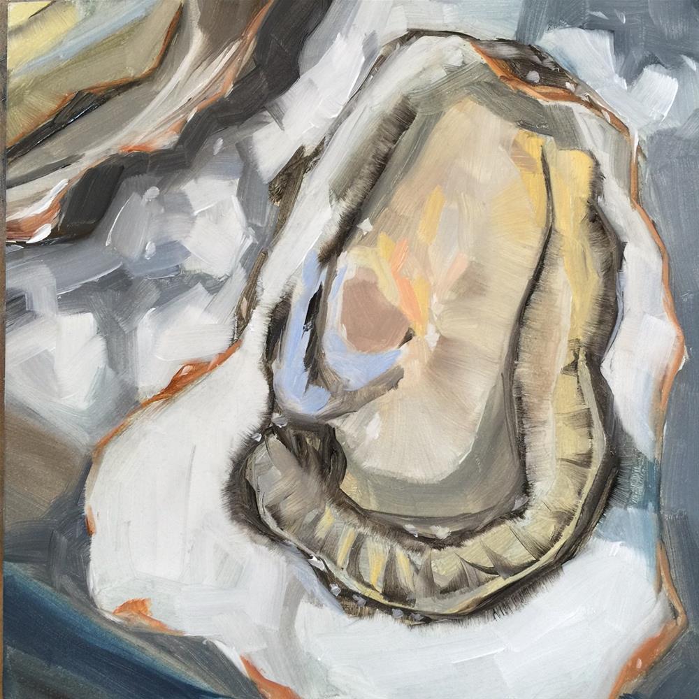 """236 Oysters on the Half Shell"" original fine art by Jenny Doh"