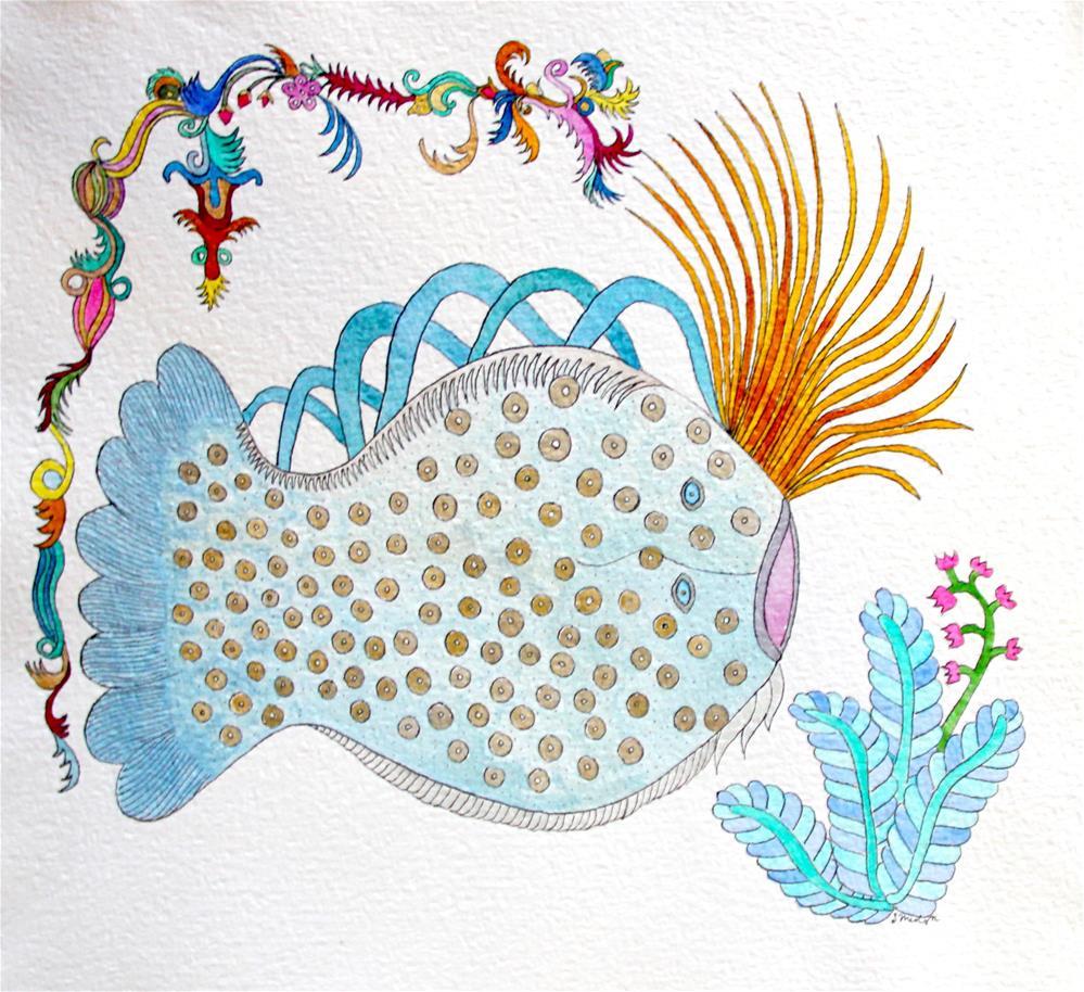 """""""Flugal Fish"""" original fine art by Susan Medyn"""