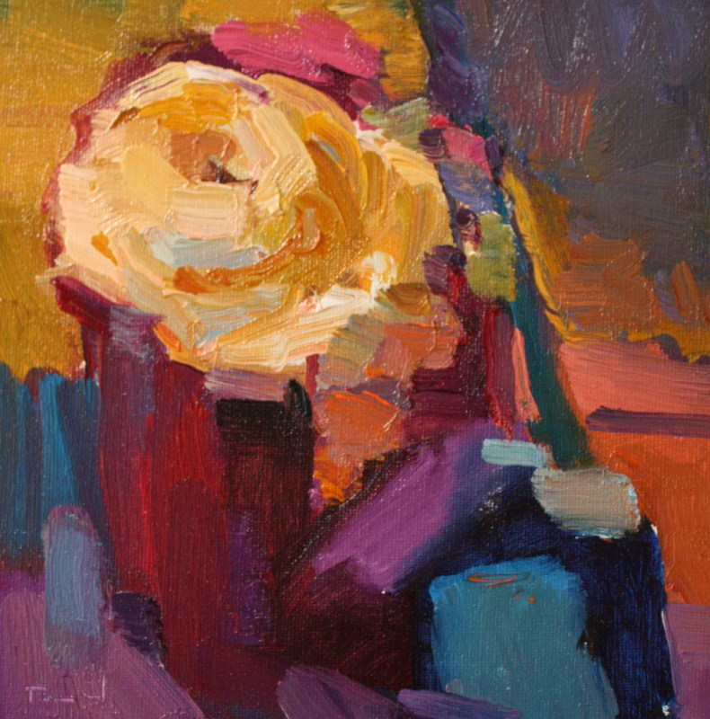 """Yellow Rose"" original fine art by Kathryn Townsend"