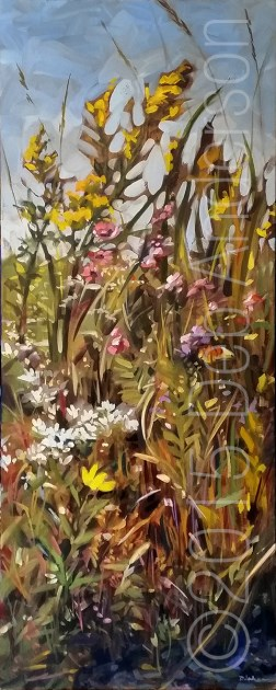 """""""Oil Painting: Goldenrod"""" original fine art by Deb Anderson"""