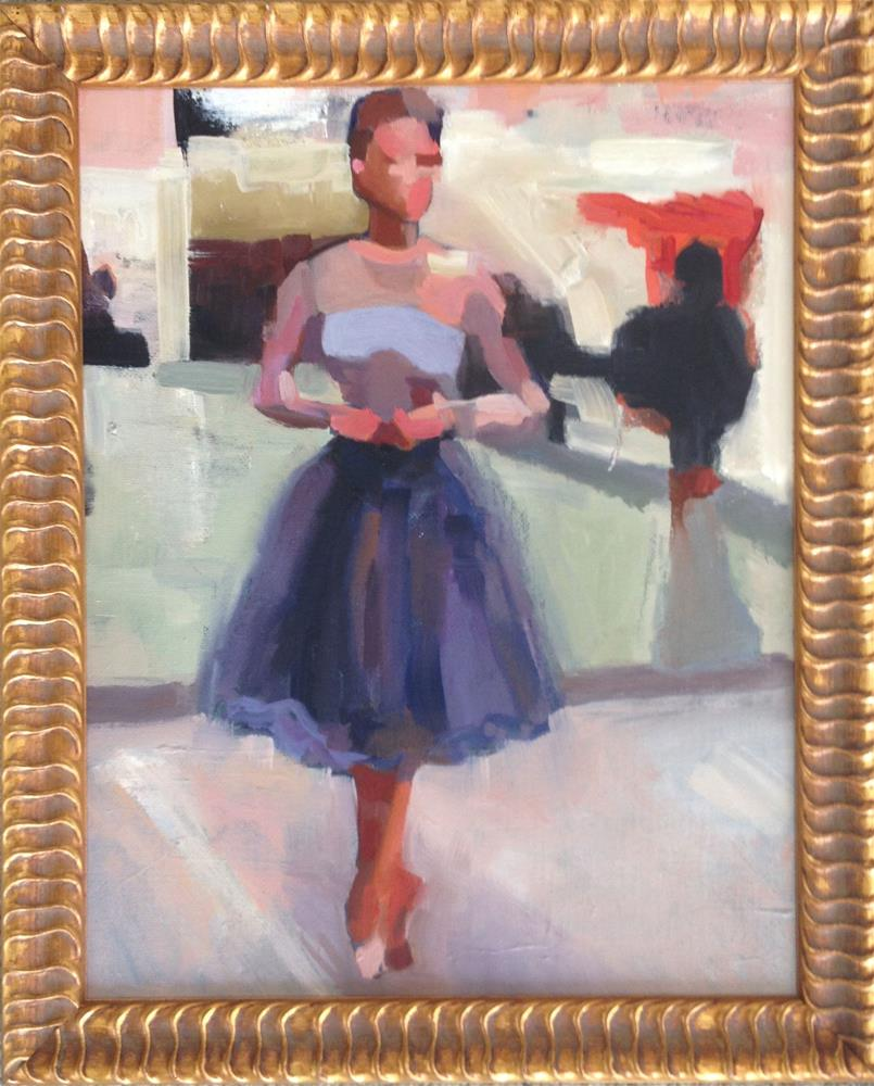 """abstract ballerina"" original fine art by Allison Rockwell"